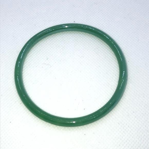Rebecca Elizabeth Jewelry - Dark Green Glass Bangle